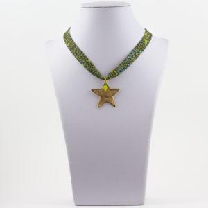 Collar Cinta Estampada y Estrella
