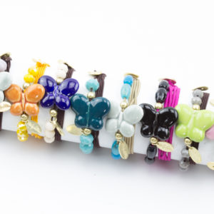 Pulsera / Collar elástica Mariposa
