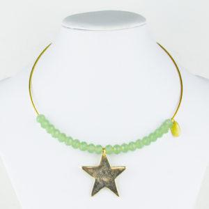 Gargantilla Estrella y Piedras 1