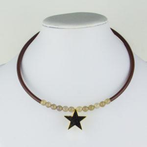 Gargantilla Estrella Cruz y Piedras