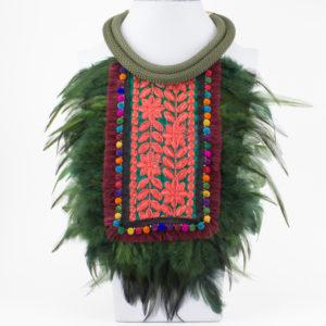 Collar Pechera Étnica Verde